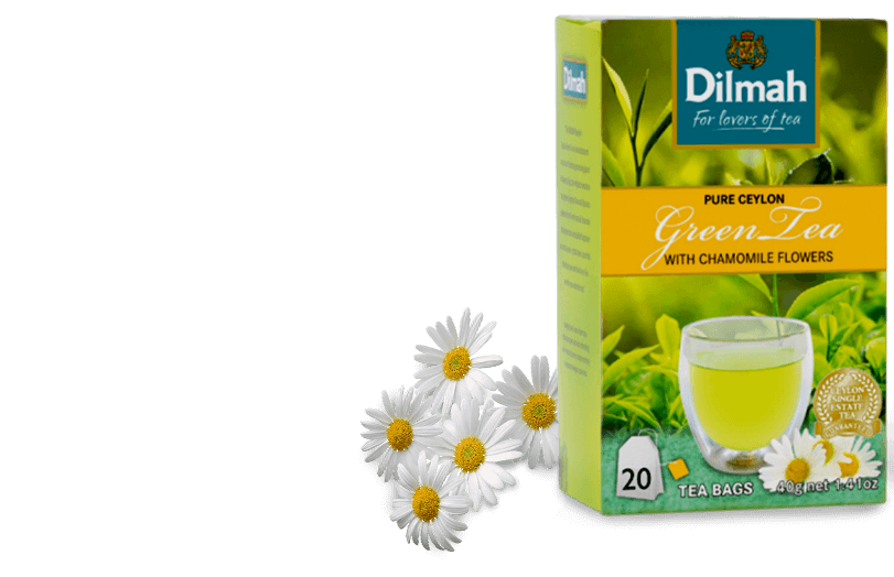 Pack of Green Tea and Chamomile Flowers
