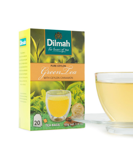 Dilmah Green Tea with Cinnamon and a Cup of Tea