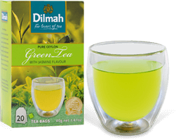 Cup of Green Tea with Green Tea Pack