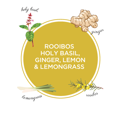 Green Rooibos Ginger, Holy Basil, Lemongrass & Lemon