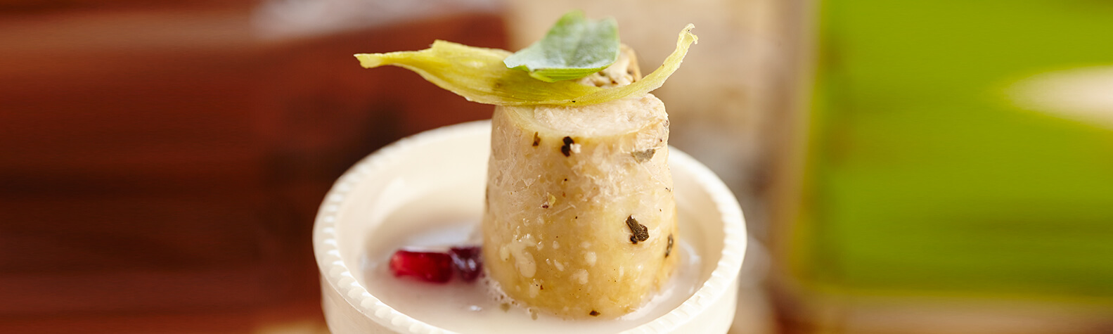 Poached Omani Chicken Breast Marinated with Dilmah Green Tea with Jasmine Flowers