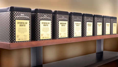 Dilmah Containers of Tea in a Row