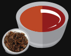 Animated Picture of Black Tea and Dried Tea Leaves