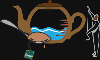 Animated Teapot and a Dilmah Tea Bag