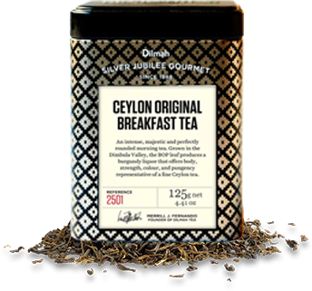 Container of Original Breakfast Tea with Tea Leaves