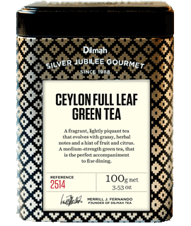 Container of Full Leaf Green Tea