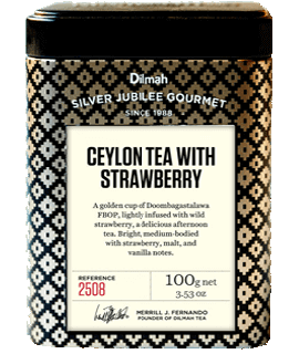 Container of Dilmah Tea with Strawberry by Dilmah
