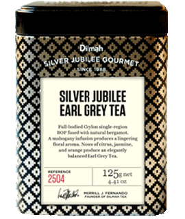Container of Jubilee Earl Grey Tea by Dilmah