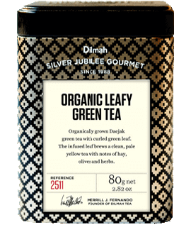 Container of Organic Leafy Green Tea