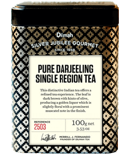 Container of Pure Darjeeling Tea by Dilmah