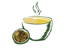 Animated Cup with Tea Leaves