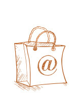 A Sketch Drawing of a Shopping Bag